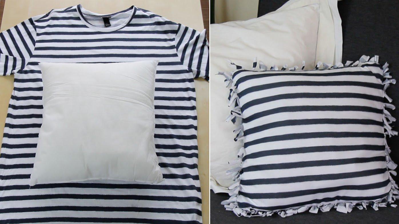 Cómo hacer cojines con camisetas recicladas | HCH.TV