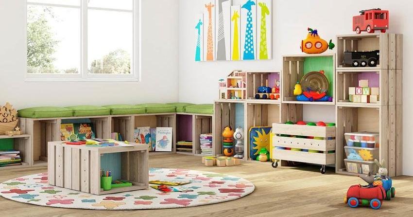 C mo organizar los juguetes de los ni os con materiales - Organizar habitacion ninos ...
